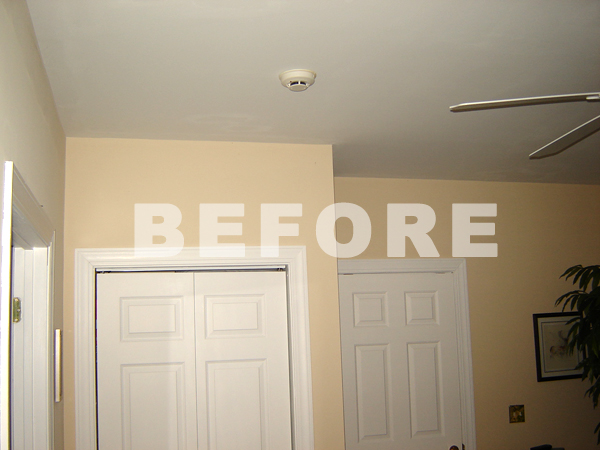 . Crown Molding Photo Gallery   Before and After  foam crown molding