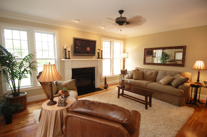 Crown molding photo gallery model homes with foam crown - Living room makeover ideas ...