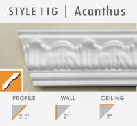 11G Acanthus leaf foam crown molding