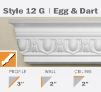 12G Egg & Dart foam crown molding