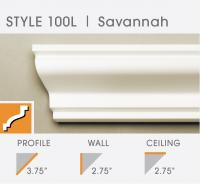 100L Savannah foam crown molding